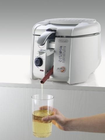 DeLonghi F 28.311.W1 Rotofritteuse (Easy Clean System, 1800 Watt) weiß - 3