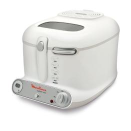 Moulinex AM3021 Fritteuse Super Uno / 1.800 Watt / Timer / wärmeisoliert / 1,5 kg Fassungsvermögen / weiß/hellgrau - 1