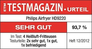 Philips HD9220/20 Airfryer Heißluftfritteuse, 1425 W, schwarz - 6